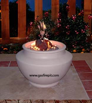Navajo gas firepit, enjoy a gas firepit today, with a gas firepit you get the fire without the smoke, a gas firepit brings warmth and ambiance to any backyard event